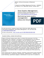 Rethinking Total Quality