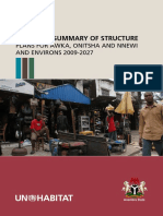 Executive Summary of Structure Plans for Awka, Onitsha and Nnewi and Environs 2009-2027