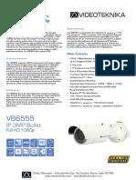 VB6555 - Videoteknika Bullet Camera - Data Sheet (1)