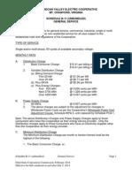 Shenandoah Electric Coop - General Rates