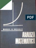 Analiza Matematica, Rosculet, 1973