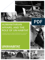 Humanitarian Affairs and the Role of UN-Habitat