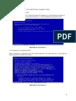 Windows XP Installation Steps