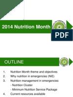 Nutrition Month 2014 Presentation
