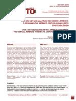 Revista Eletrônica do Curso de Direito da UFSM - Guilherme Uchimura - Por um metadogmatismo no ensino jurídico - o pensamento jurídico crítico como corte epistemológico.pdf
