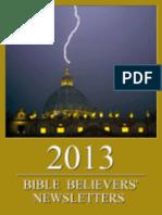 Bible Believers' Newsletters 2013