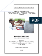 Guideline Formation Project Proposal
