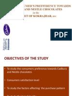 Study of Consumer Prefference Towards Cadbury and Nestle