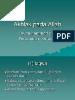 Akhlak to Allah