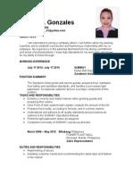 Aileen C.gonzales CV