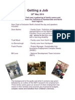 Getting a Job, Yorkshire and Humber Family Carers 29th May 2014
