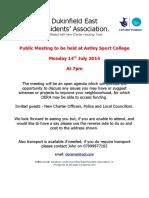 JULY 2014 Public Meeting LEAFLET (1)