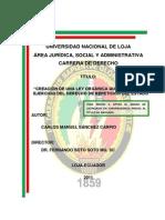 Creacion de Una Ley Que Garantice El Derecho de Repeticion (Carlos Sánchez)