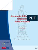 Antologia Della Critica Letteraria Del Novecento