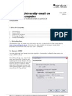Accessing University email on your own computer