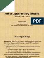 Arthur Capper History Time Line July 5