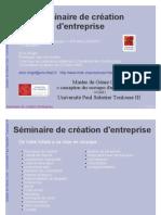 Seminaire Creation Entreprise 2010 1