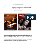 "The ""Bollywoodization"" of Shakespeare in Vishal Bhardwaj's Maqbool and Omkara"