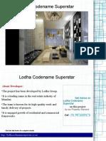 Lodha Codename Superstar Price List