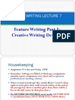 Feature Writing Part 3