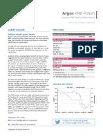 Argus FMB Potash Market News