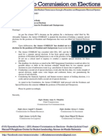 Memo 201413 - Separate Special Elections for President and Chairpersons