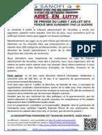 20140707 Communiqué de Presse