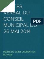 Procès Verbal du Conseil du 26 mai 2014