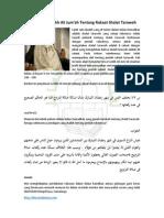 Penjelasan Syeikh Ali Jum'Ah Tentang Rakaat Shalat Taraweh