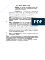 Steps to Write a Letter