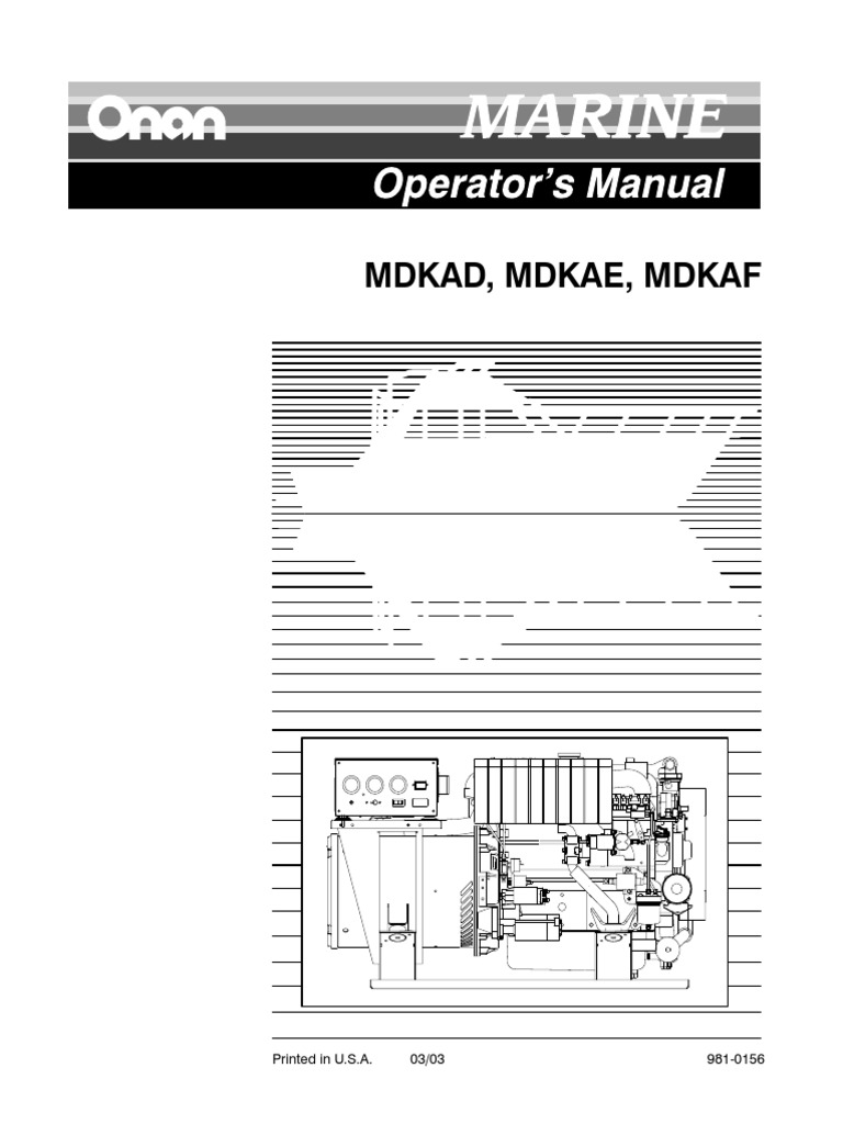 Onan Mdkae Owners Manaul Home Appliance Battery Electricity Generator Start Stop Wiring Diagram