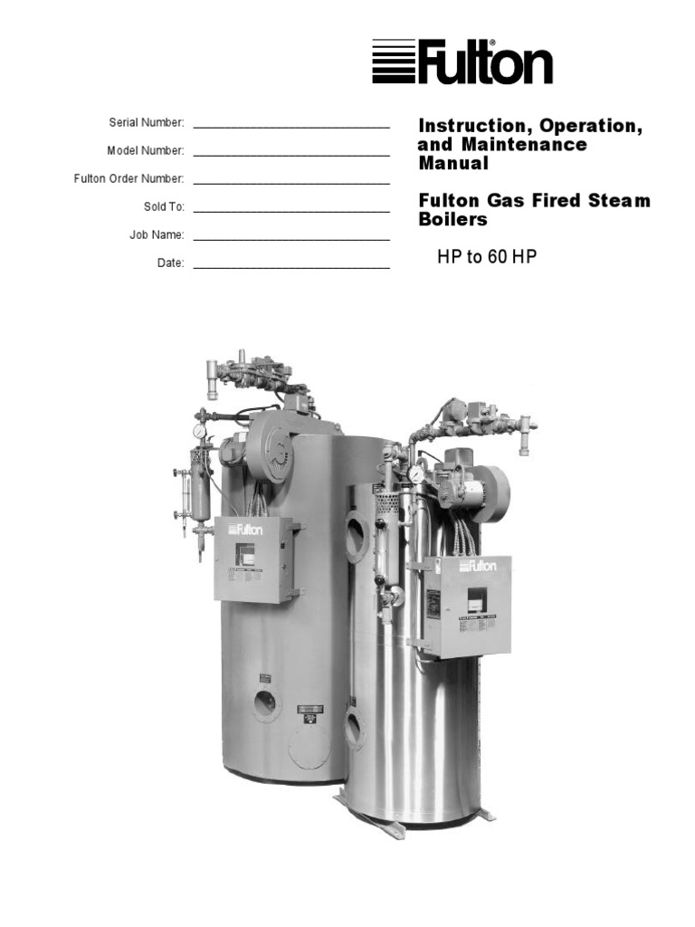 Vertical Tubeless Gas Fired IOM | Boiler | Valve