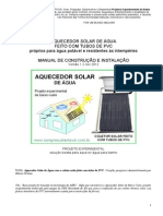 Manual Do Aquecedor Solar Com Tubos de Pvc v1 2