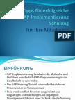Fünf Tipps für erfolgreiche SAP-Implementierung Schulung Für Ihre Mitarbeiter