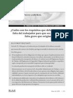 Informe Laboral Falta Grave