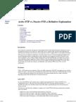 Active Ftp vs Passive Ftp