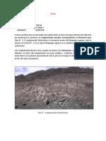 Salida de Corire. Geologia de Campo