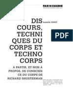 I.ginot Discours, Techniques Du Corps Et Technocorps