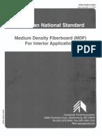 ANSI A208.2-2002 MDF