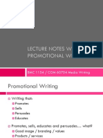 Promotional Writing