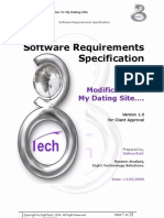 User requirements specification fdating