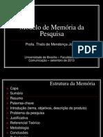 PPT-Modelo de Memória Da Pesquisa