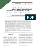 Chen Et Al Methods of Estimating Evapotranspiration