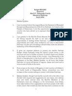 Railway Budget Speech 2014-15