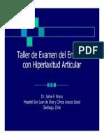 Microsoft PowerPoint - Taller de Examen Del Enfermo Con Hiperlaxitud Articular. Puerto Vara Nuevos