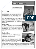 Climbing Everest Diary