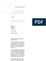 Architectural Proposal Template - Download Free Sample