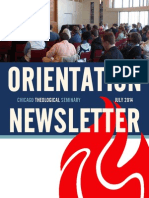 CTS Orientation Newsletter - July 2014