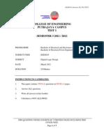 TEST 1 DIGITAL LOGIC UNITEN 2011/2012