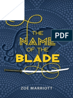 The Name of the Blade by Zoe Marriott Chapter Sampler